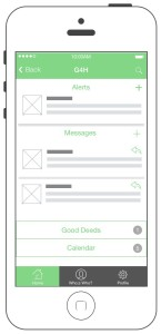 Home screen with Alerts & Messages panel expanded