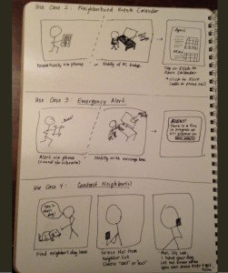 Storyboard for 3 use cases