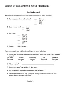User survey page 1